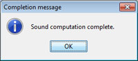 Thumbnail of completion message box
